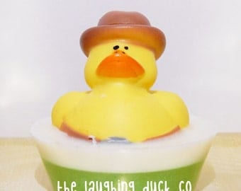 Cowboy Rubber Ducky Soap, Cotton Candy, Shea Butter Glycerin Soap, Rubber Duck, Laughing Duck, Toddler Gift Idea, Toy, Stocking Stuffer