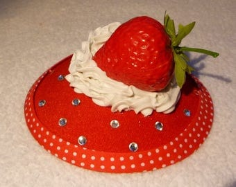 Strawberry and Cream Fascinator - Wimbledon, Tea Party