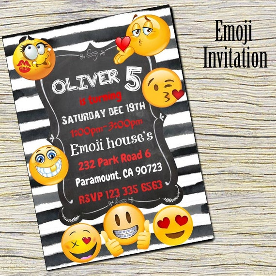 Emoji Party Invitation Printable