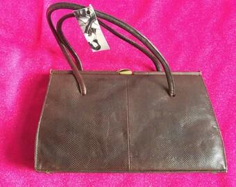 Vintage 1960's Marquessa Snakeskin Handbag - Small