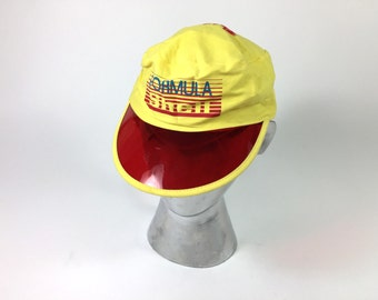 Shell Red and Yellow Visor Cotton Hat