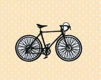 Bicycle Iron On Patch Embroidered Sew On Apllique DIY Jeans Patches