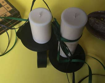 Coconut Scented Pillar Candles
