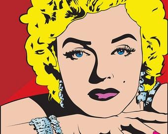 Marilyn Monroe Pop Art ,(22x27)Canvas Art,Prints,Movie Star,wall Art.
