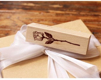 Wood flower stamp