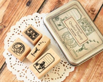 Dorothy Wizard of Oz 01 wooden stamps 4 piece set
