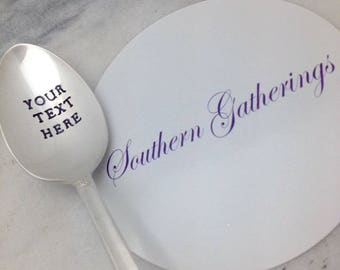 Create your own custom hand stamped spoon, personalized spoon