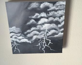 Stormy sky handmade painting
