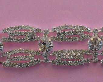 Rhinestone trim/ Rhinestone Chain/ Formal gown belt/Rhinestone Swarovski shine  high quality crystals