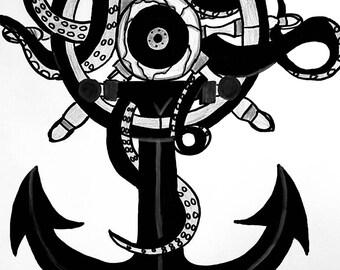 Anchor print 9x12