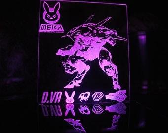 Overwatch D.Va Character LED Desk Lamp