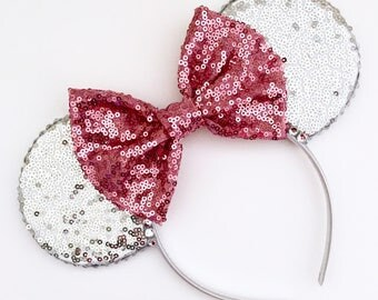 The Full Sequin (Silver) - Handmade Sequin Mouse Ears Headband