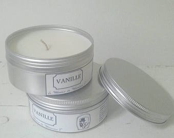 Candle vanilla fragrance preserved