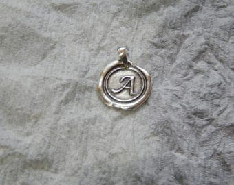 Wax Seal Initial ( A ) MADE IN 925 SILVER
