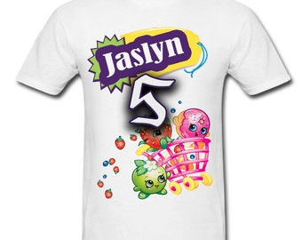 Personalized Shopkins Birthday shirt for Family