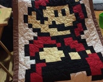 Mario Quilt, Toddler blanket, Throw