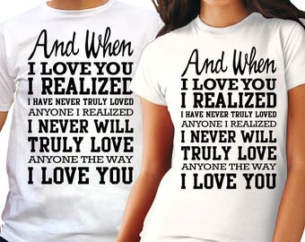 Matching couple shirts - Story shirts for Him and Her - Real love family t-shirts - Boyfriend gift - Girlfriend gift idea - Couples tees