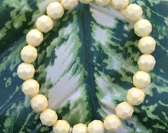 Yellow Beaded Starfish Bracelet