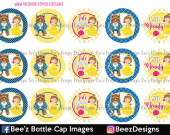 Little Beauty- INSTANT DOWNLOAD- 1 inch Bottle Cap Images