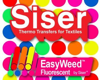 """SISER EasyWeed Fluorescent HTV 12"""" x 15"""" Sheet"""