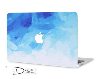 macbook sticker macbook decal macbook skin blue paint mac sticker apple sticker macbook pro sticker macbook air sticker mac decal