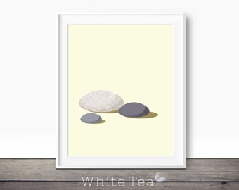 Three Pebbles, zen wall art, minimalist printable art, zen pebbles art, stone decor pebble artwork, minimalist wall decor, modern art print