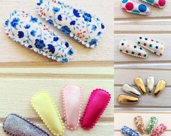 2 x baby nonslip hair clips ( your choice of colour/print)