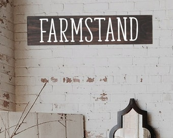 Farmstand Wood Sign, Farmstand Signs, Modern Farmhouse Sign, Vintage Inspired Sign, Farmhouse Sign for Kitchen, Mantle Decor Sign, Wood Sign