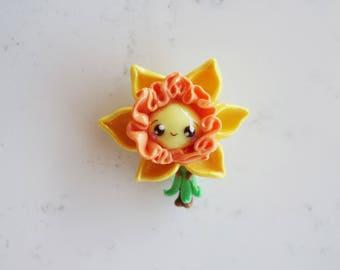 Flower Babee Charm - Yellow Daffodil