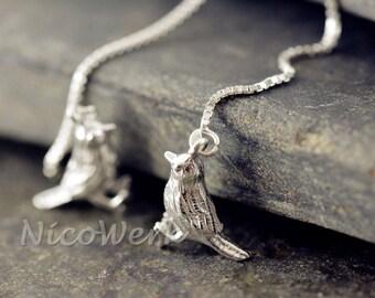 Silver BIRD earrings women's earrings ear jewelry 925 jewelry gift 309
