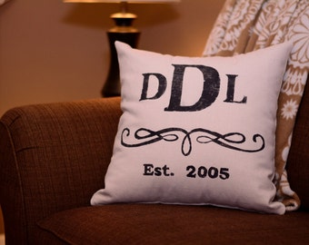 "Monogram  - pillow cover (18""x18"")"