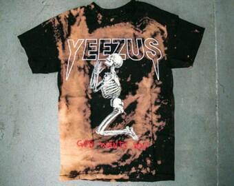 "Yeezus ""God Wants You"" Skeleton T-Shirt"