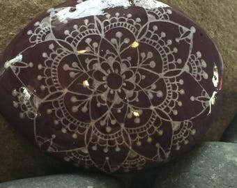 Painted rock - Mandala