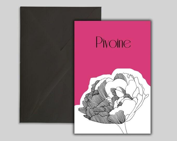 Featured listing image: Carte, affiche fleur pivoine, téléchargement, jpg