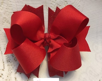 Red Bow, Boutique Bow, Stacked Bow, you can choose color