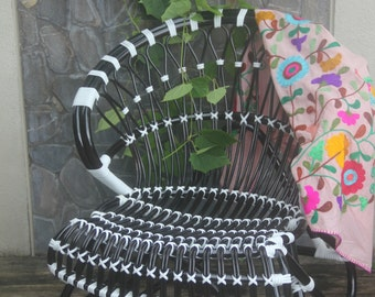 black and white rattan chair/indoor outdoor rattan chair/restaurant chair/french bistro chair/bar stool/butterfly chair/dinning chairs/chair