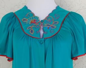 Vintage Robe, Short Sleeve Robe, Dressing Gown, Vanity Fair