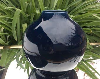 Calming modern blue vase