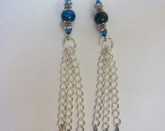 chain tassle earrings