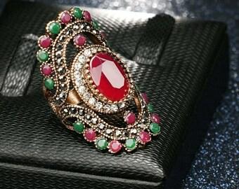 Turkish Resin  Vintage Ring