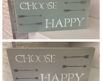 Happy-inspiration-sage-wood-distressed-handmade-wall sign-wall hanging-home decor-custom