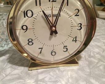 Vintage 1960's Big Ben Alarm Clock Glow in the Dark