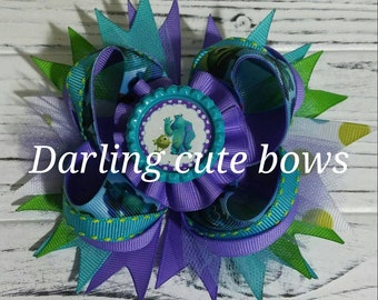 Monsters inc hairbow disney hairbow princess hairbow