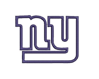 6 sizes - New York Giants Applique Embroidery Design, New York Applique, Machine Embroidery Design, Football Embroidery, Sport Applique