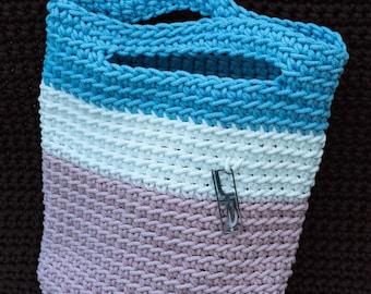 """Crochet Tricolor Handbag """"Summer"""""""