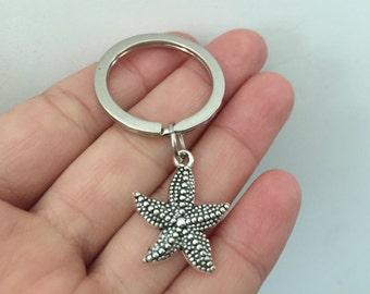 Starfish keychain, Starfish gifts key ring