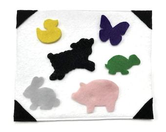 Animal Shapes Felt Board, Quiet Activity, Felt Activity, Felt Shapes, Busy Board, Felt Story, Open Ended Play, Spring Activity, Baby Animals