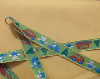 Woven Ribbon Trim - Bears, Buses, Cars, and Trees by the yard