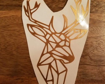 Geometric Deer Buck Vinyl Decal (Multiple Sizes & Colors Available)