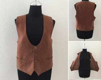Tailored Brown Vest